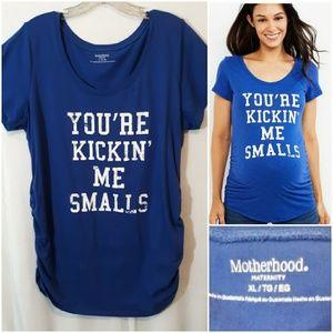 Motherhood You're Kicking Me Smalls Tee Shirt